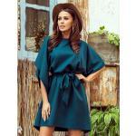 Dámské společenské šaty oversize 287-2 smaragdově zelené