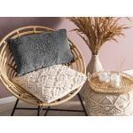 Dekorativní bavlněný polštář 30 x 50 cm tmavě šedý VELOOR