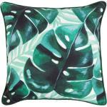 Dekorativní zelený polštář s botanickým motivem 40x40