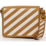 Designová dámská crossbody koženková kabelka Lucky stripes, žlutá