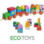 ECOTOYS Dřevěný vláček na šňůrce Eco Toys