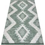 Ekologický koberec MOROC EKO SISAL 22312 Diamanty, střapce, dvě vrstvy rouna, zelená, krémová, recyklovatelná bavlna bavlna 117x170 cm