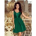 Elegantní dámské šaty 208-4 smaragdové