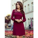 Elegantní dámské šaty 291-1 bordo