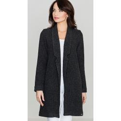 Dámské Klasické kabáty Lenitif v černé barvě v elegantním stylu