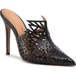 Dámské Pantofle Eva Longoria v černé barvě v elegantním stylu s výškou podpatku nad 9 cm