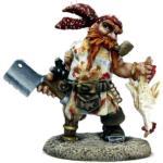 Figurka Gruff Grimecleaver, trpasličí pirát
