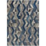 Koberce v modré barvě v moderním stylu z vlny