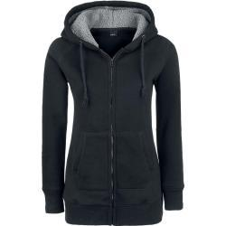 Forplay - Teddy Hoodie - Mikina s kapucí na zip - černá