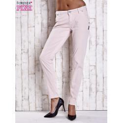FPrice Dámské světle béžové látkové kalhoty s prošíváním na kapsách 26