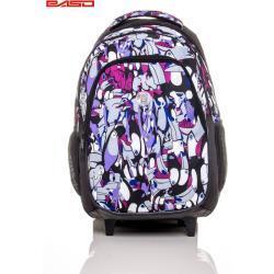 FPrice Školní batoh na kolečkách s potiskem tukanů ONE SIZE