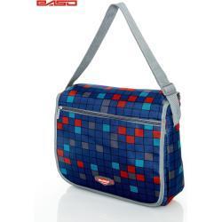 FPrice Tmavě modrá kostkovaná kabelka přes rameno
