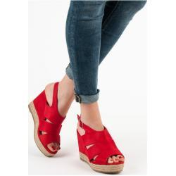 Gemini Dámské sandály espadrilky 5M17-11R - Best Shoes červená 37