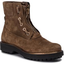 Dámské Kotníkové boty Geox Asheely v hnědé barvě s výškou podpatku 3 cm - 5 cm