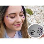 GFT Nalepovací kamínky na obličej - fialové