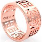 Guess Stylový růžově zlacený prsten Peony Art UBR29034 54 mm