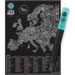 Gurmánská stírací mapa Evropy Gourmet Scratch Map