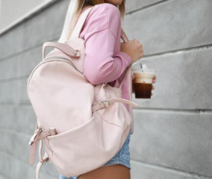 dámský růžový batoh