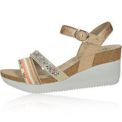 Inblu dámské elegantní sandály s ozdobnými prvky - zlaté - 39