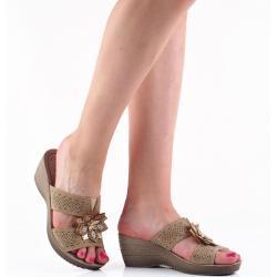 Dámské Pantofle Inblu v béžové barvě na léto