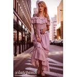 Dámské Maxi šaty v růžové barvě ve velikosti S o délce maxi