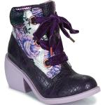 Dámské Kotníkové boty Irregular Choice ve fialové barvě ve velikosti 42 s výškou podpatku 7 cm - 9 cm