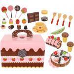 ISO Dřevěný box plný sladkostí na hraní sada, 9355
