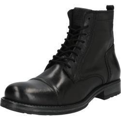 JACK & JONES Šněrovací boty černá / antracitová