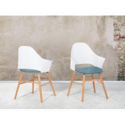 Jídelní židle bílo-modrá - BOSTON