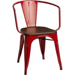 Jídelní židle Paris Arms Wood borovice ořech červená
