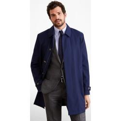 Kabát Brooks Brothers Out Gf Lw Wool Trench Blue Hthr