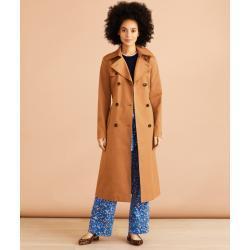 Dámské Klasické kabáty BROOKS BROTHERS vícebarevné s vysokým krkem