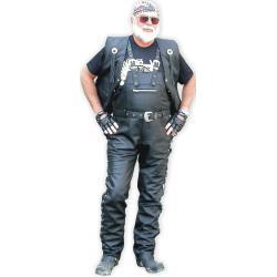 Pánské Kožené kalhoty v černé barvě z hovězí kůže