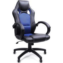 Kancelářská židle Racing II Blue, herní křeslo, racing design, nosnost 150kg