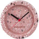 KARLSSON Růžový kameninový budík Tom Tarazzo