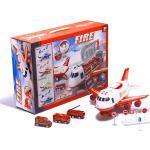 KIK Elektronické nákladní Letadlo s autíčky a příslušenstvím hasiči, KX6684_2