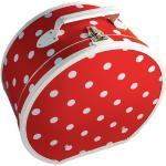 Kloboukovka 40cm červená s bílým puntíkem