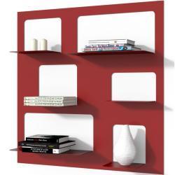Knihovna Libra3 červená
