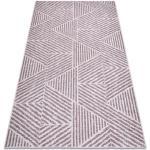 Koberec COLOR 47176260 SISAL řádky, trojúhelníky, cikcak béžový / špinavě růžová 60x110 cm