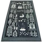 Koberec FOLK ECHO černý 200x300 cm
