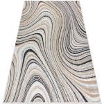 Koberec SISAL COOPER Abstrakce 22207 ecru / černý 80x150 cm