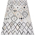 Koberec SISAL COOPER Diamanty, Cikcak 22236 ecru / černý 80x150 cm
