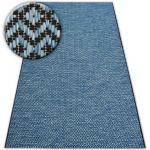 Koberec SISAL LOFT 21144 modrý/černý/stříbrný 60x110 cm