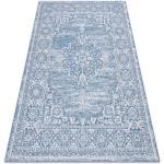 Koberec SISAL LOFT 21213 Ornament modrý / stříbrný / slonová kost 80x150 cm