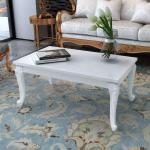 Konferenční stolek Lumeah - vysoký lesk - bílý | 100x60x42 cm