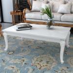 Konferenční stolek Lumeah - vysoký lesk - bílý | 120x70x42 cm