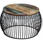 Konferenční stolek Visalia - masivní recyklované dřevo | 68x43 cm
