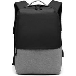 KONO černý elegantní batoh nepromokavý s USB portem UNISEX