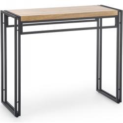 Konzolový stolek BOLIVAR KN1 dub zlatý / černá Halmar