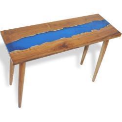 Konzolový stolek River - teak a pryskyřice | 100x35x75 cm